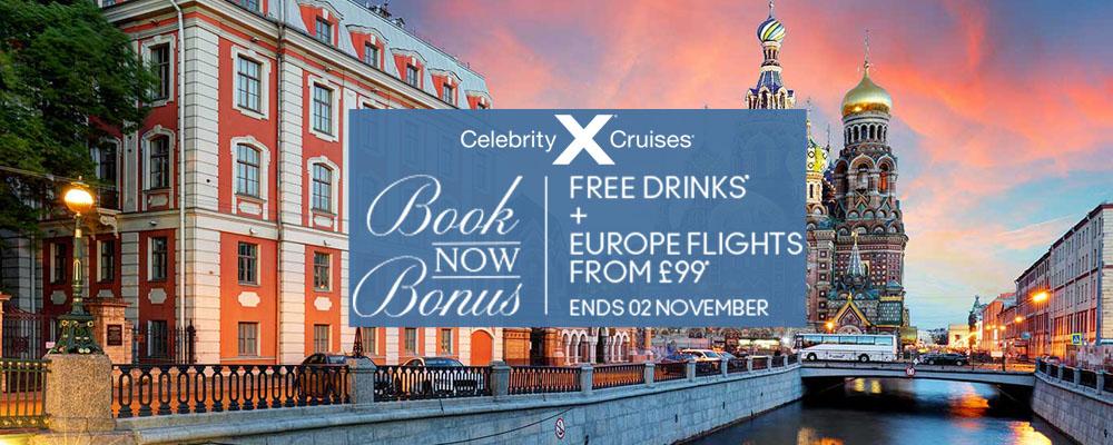 Celebrity Cruises - Book Now Bonus
